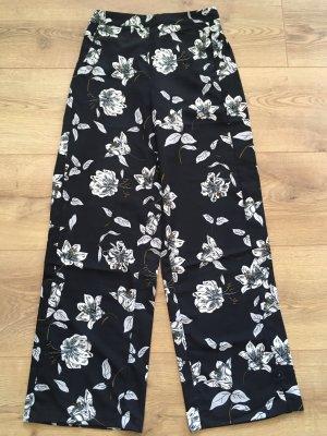 Spodnie Marlena czarny-biały