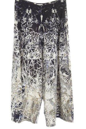 Spodnie Marlena ciemnoniebieski-jasnoszary Abstrakcyjny wzór W stylu casual
