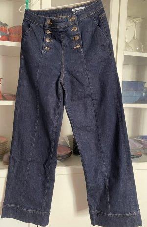 Esprit Marlene Trousers dark blue cotton