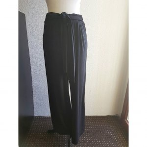 Laura Kent Pantalone Marlene nero Tessuto misto