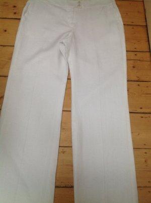 Armani Collezioni Spodnie Marlena biały Len