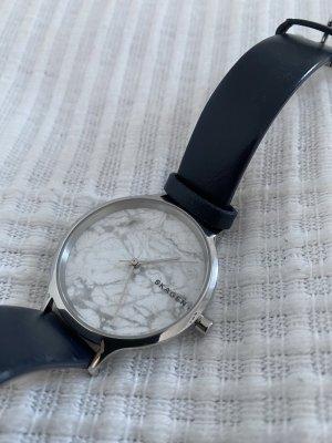 Skagen Zegarek ze skórzanym paskiem Wielokolorowy Skóra