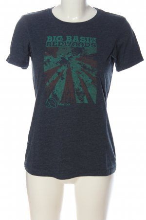 Marmot T-shirt blu-turchese Stampa a tema stile casual
