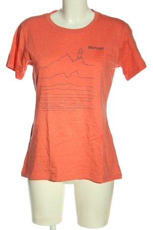 Marmot T-shirt rosso puntinato stile casual