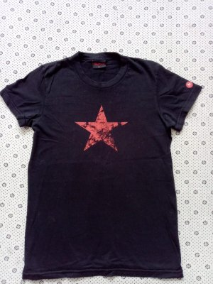 Marmot T-shirt nero-rosso Cotone