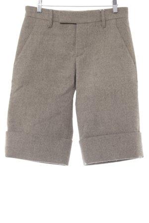 Marni Pantalon 3/4 crème-brun foncé moucheté style décontracté