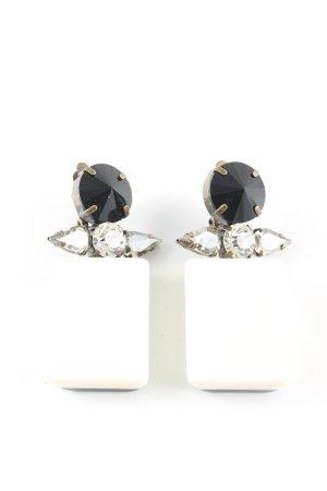 Marni at H&M Pendientes de clip blanco-negro elegante