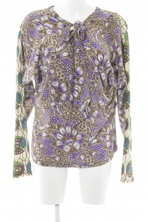 Marni at H&M Seidenbluse abstraktes Muster extravaganter Stil