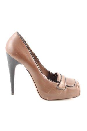 Marni High Heels braun extravaganter Stil