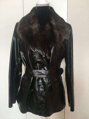 Marni Fur Jacket black brown