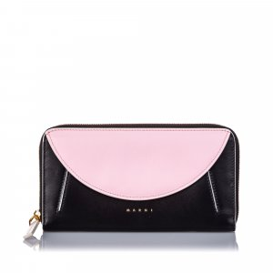 Marni Leather Zip Wallet