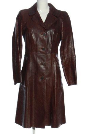 Marni Manteau en cuir brun style extravagant