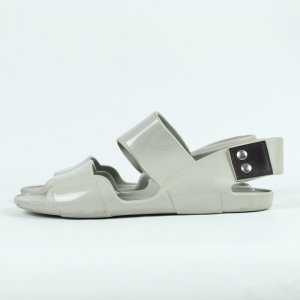 Marni Beach Sandals light grey synthetic material