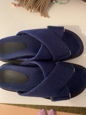 Marni Sandały outdoor ciemnoniebieski