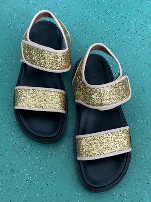 Marni Outdoor sandalen donkergeel-zwart