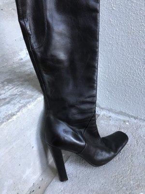 Marni Wysokie buty na obcasie taupe