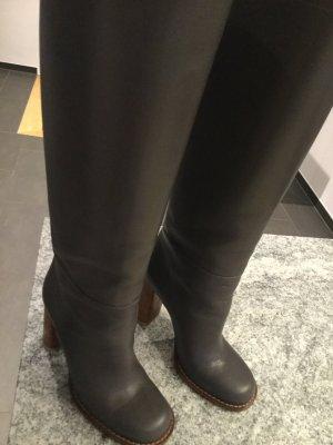 Marni Stiefel Boots Leder grau