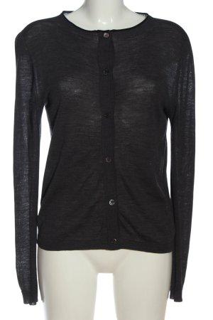 Marni Cardigan tricotés noir moucheté style décontracté