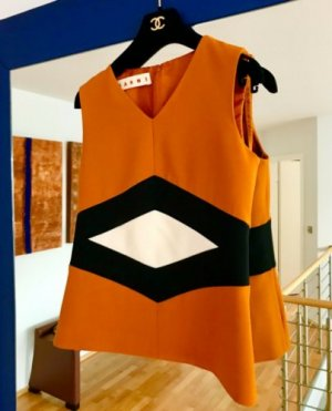 Marni Top DE 34/36 IT 40 XS/S Wolle Jacke Weste Colorblock Neu NP 1.000€