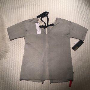 Marni Transparentes Shirt grau mit Schleife als VerschlussGr 38 /it42