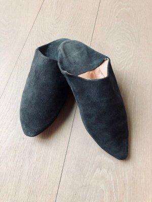 Pantoufles gris foncé-gris anthracite