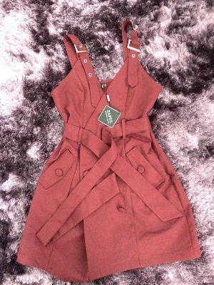 Zaful Coat Dress bordeaux polyester