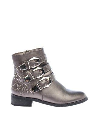 Marquiiz Booties bronzefarben-schwarz grafisches Muster Casual-Look