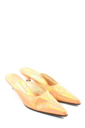 Martine Clay Mule à talon orange clair élégant