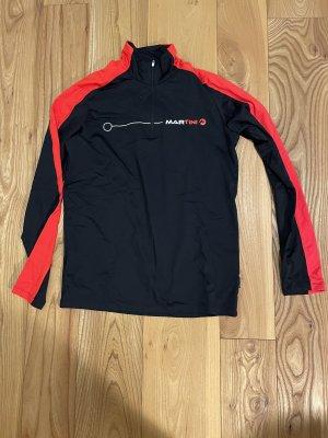MARTINI Maglietta sport nero-rosso