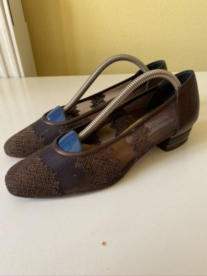 Slingback Ballerinas dark brown leather