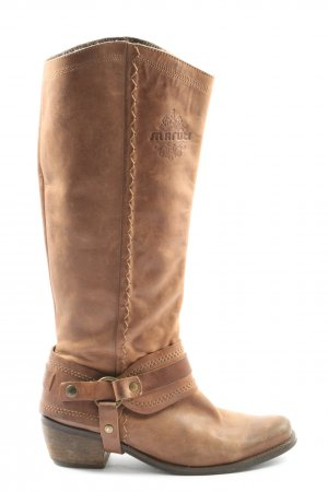 Maruti Wide Calf Boots brown casual look