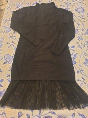 Marx Robe en laine noir laine angora