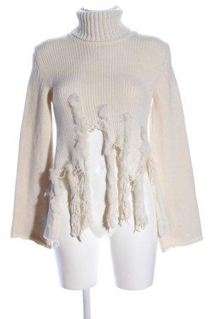 Mary C Turtleneck Sweater cream casual look