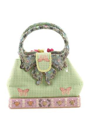 Minibolso verde-rosa elegante