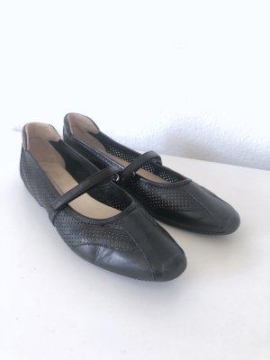Konstantin Starke Mary Jane Ballerinas black-silver-colored leather