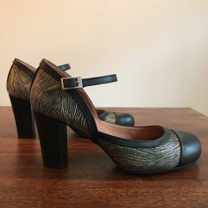 Escarpins Mary Jane noir-doré