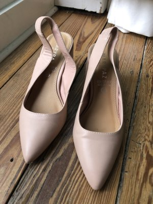 Backless Pumps dusky pink