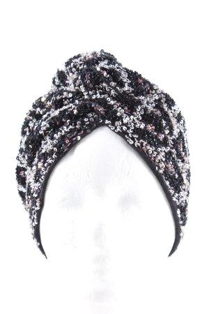 Maryjane Claverol Sombrero de tela negro-blanco look casual
