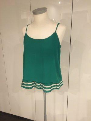 Maryley Top z cienkimi ramiączkami zielony-biały