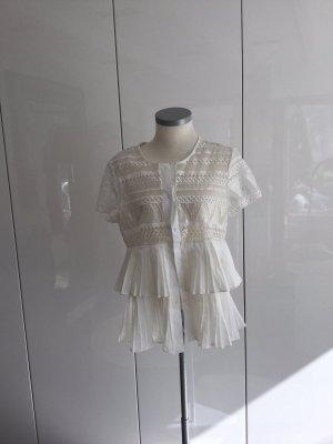 Maryley Blusa de manga corta blanco