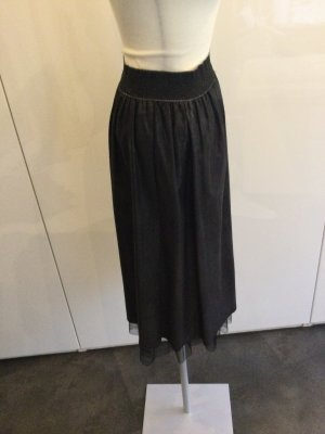 Maryley Faux Leather Skirt black