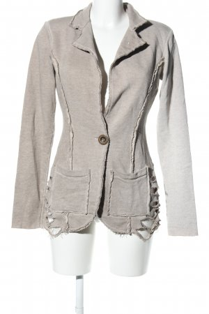 Maryley Jerseyblazer hellgrau meliert Casual-Look
