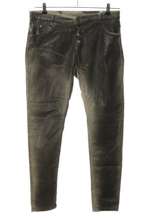 Maryley Skinny Jeans khaki-silberfarben Casual-Look