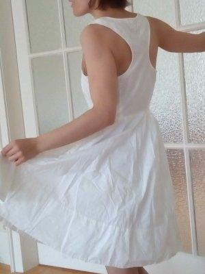 Robe ballon blanc laine angora