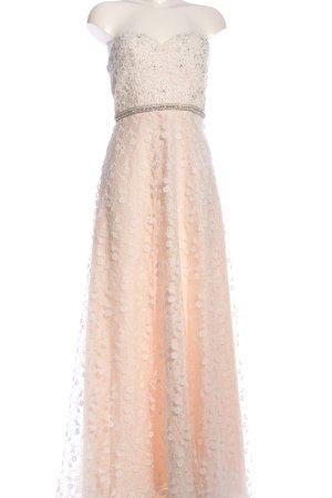Mascara Abendkleid creme-weiß Allover-Druck Elegant