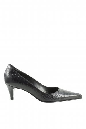 Mascaró Spitz-Pumps schwarz Animalmuster Business-Look