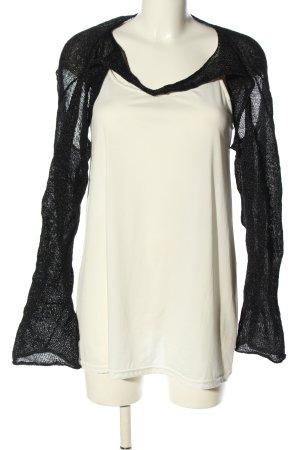 Mashiah Bolero lavorato a maglia nero-bianco sporco stile casual