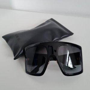 Dior Gafas de sol cuadradas negro tejido mezclado