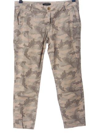 Mason's 7/8-Hose wollweiß-hellgrau Camouflagemuster Casual-Look