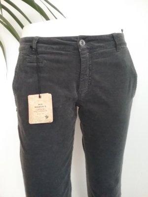 Mason's Pantalon en velours côtelé gris foncé